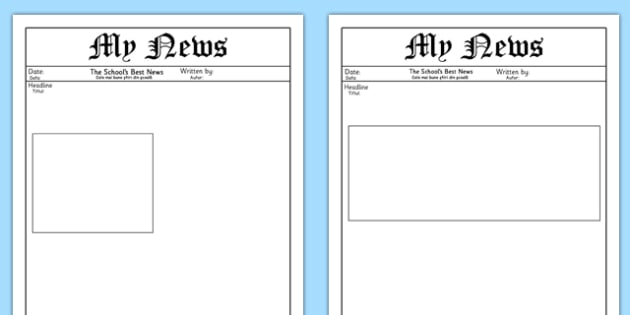 My News Writing Template Romanian Translation - romanian, News, The news, Writing Template, Blank templates, letter, letter writing, letters, editable, editable template, foundation stage, Template, letter design, fine motor skills, activity