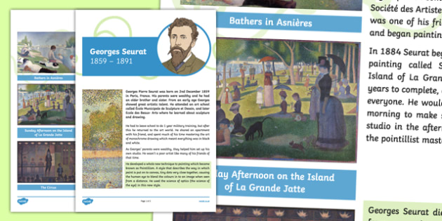 Georges Seurat Artist Fact File Fact File