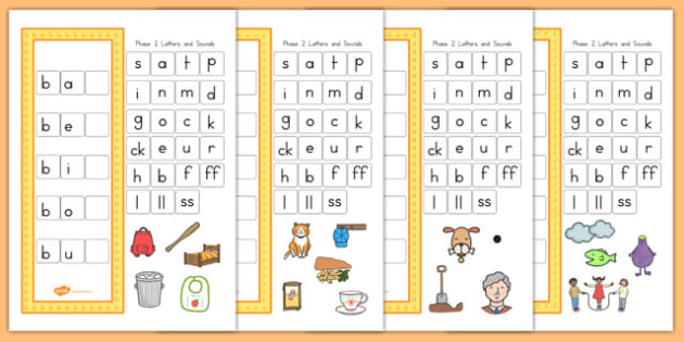 CVC Word Activity Pack Including Phase 2 Letters and Sounds - australia, cvc, activity, pack, phase 2