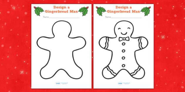 Gingerbread Man Colouring Sheets - colouring, sheets, fine motor skills, gingerbread man, ginger bread man, ginger bread people, ginger bread colouring, colour the ginger bread man, poster, worksheet, display, fun, activity, art, craft