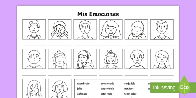 my emotions worksheet activity sheet spanish spanish ks2. Black Bedroom Furniture Sets. Home Design Ideas