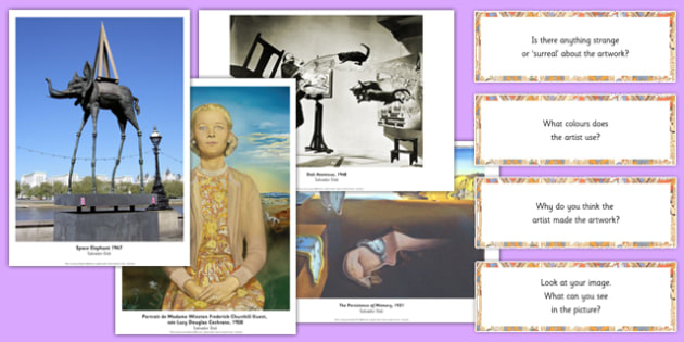 Salvador Dali Photopack and Prompt Questions - salvado dali, photo pack, prompt, questions