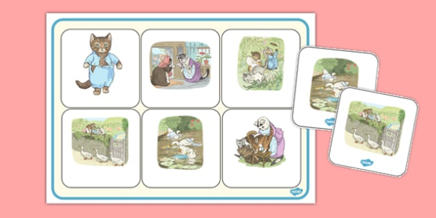 Beatrix Potter - The Tale of Tom Kitten Matching Mat - beatrix potter, tom kitten