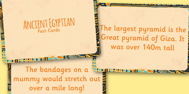 Amazing Ancient Egyptians Display Fact Cards - ancient egypt facts