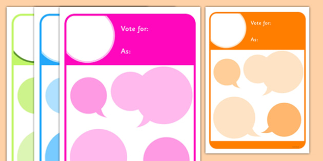 School Council Election Candidate Manifesto Poster Template - school council, election, manifesto