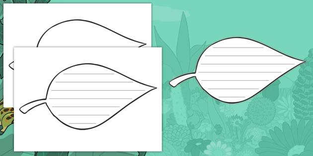 Good NEW * Leaf Writing Template   Writing Template, Writing, Forest And  Woodland,