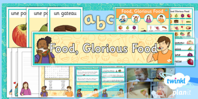 French: Food, Glorious Food! Year 3 Additional Resources