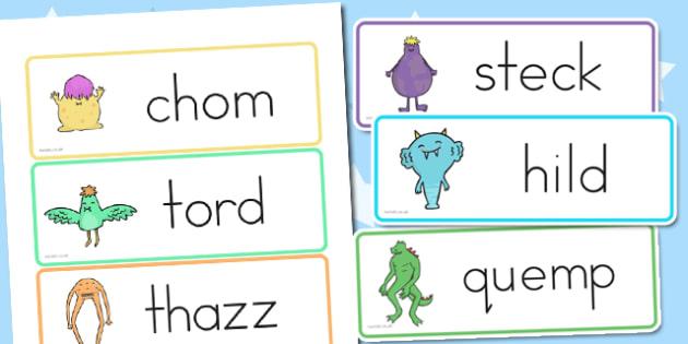 Alien Nonsense Sorting Word Cards - australia, nonsense, alien
