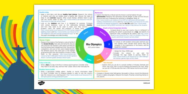 KS2 Rio 2016 Olympic Games Teaching Ideas