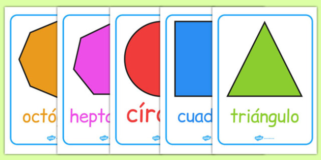 2D Shape Posters - spanish, 2d shape, poster, display, display poster, geometry