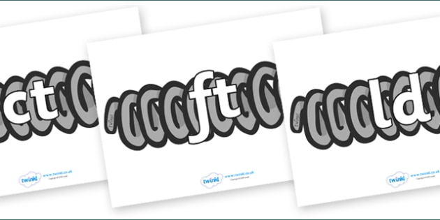 Final Letter Blends on Springs - Final Letters, final letter, letter blend, letter blends, consonant, consonants, digraph, trigraph, literacy, alphabet, letters, foundation stage literacy