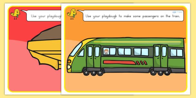 Transport Playdough Mats - transport, fine motor skill, playdough