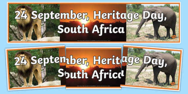 South Africa Heritage Day Display Banner - south africa heritage day, display banner, display, banner, south africa, heritage
