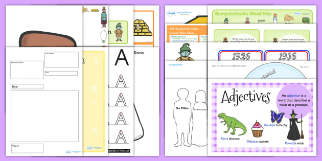 Rumpelstiltskin KS1 Lesson Plan Ideas and Resource Pack - pack