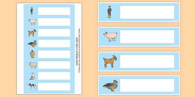 Farm Themed Gratnells Tray Labels - farm, label, tray label, sign