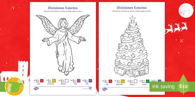 Dibujos Para Colorear Las Galletas: Hojas De Colorear Por Divisiones Exactas Con Dos Cifras