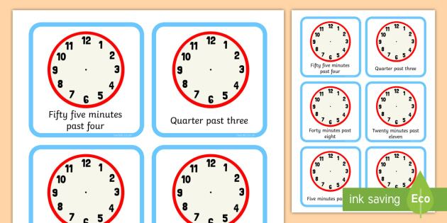 image relating to Printable Clock Face With Minutes called Clock Faces 5 Second Period Occasions - Blank Clock Faces