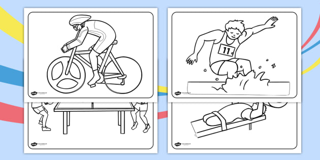 Free The Commonwealth Games Colouring Sheets Sports