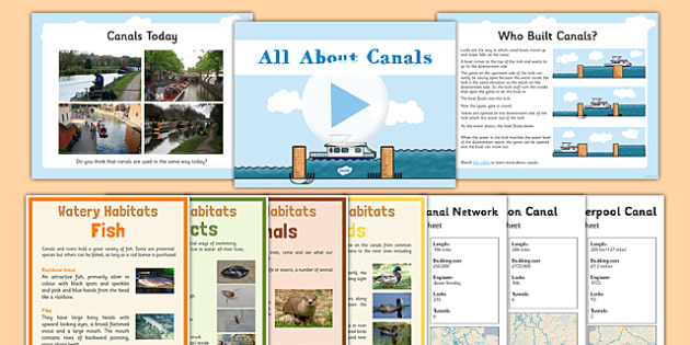 Canals Resource Pack - canals, resource pack, pack, geography, ks2, english