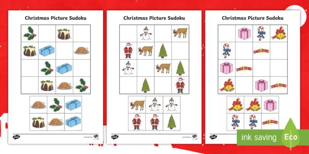 Christmas Sudoku.Christmas Picture Sudoku