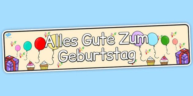German Happy Birthday Display Banner - german, display, banner