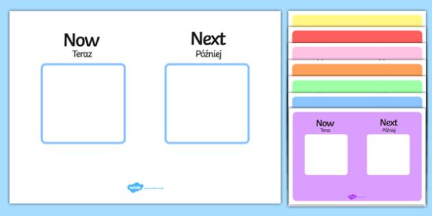 Now Next Visual Aid Polish/English