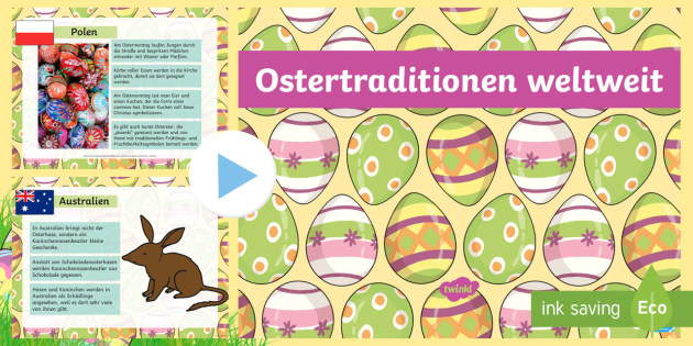 Weltweite Oster Traditionen PowerPoint - Weltweite Oster