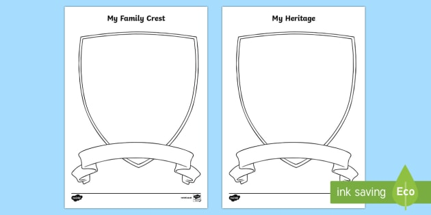 My Family Crest Worksheet Activity Sheet Canadian