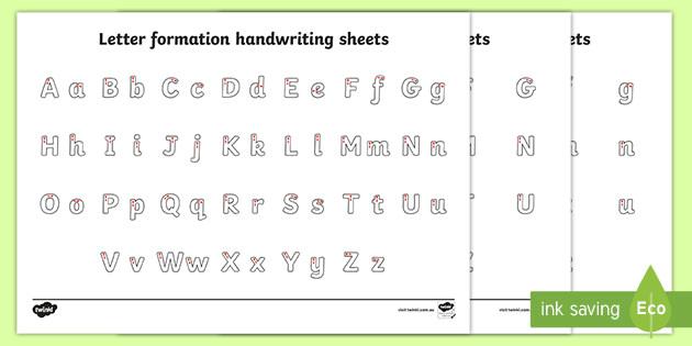qld new letter formation alphabet handwriting worksheet. Black Bedroom Furniture Sets. Home Design Ideas