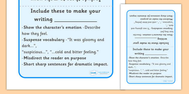 Writing Prompt To Enhance Text - Writing prompt, writing aid, table sign, writing aids, A4, sign, punctuation, finger spaces, full stop, how to write a sentence, capital letter, write it again, foundation stage literacy, letters and sounds, DfES, KS1