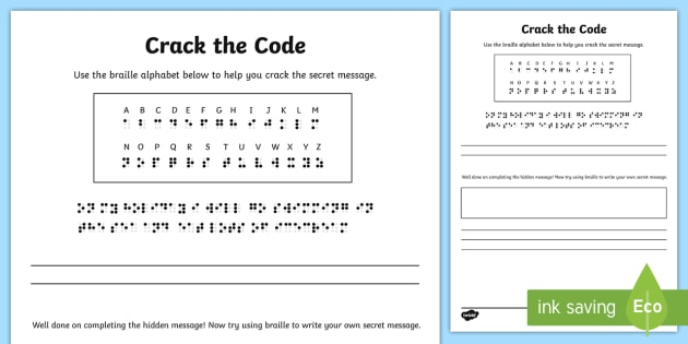 Crack the Code Puzzle - crack the code, puzzle, problem solving, braille
