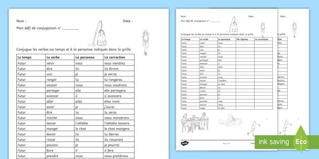 Defi De Conjugaison Les Verbes Cles Au Futur