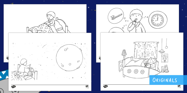 Back to Earth with a Bump Colouring Pages - Back to Earth with a Bump, KS1, EYFS, Colouring pages, colouring sheets, twinkl fiction, hal, space,
