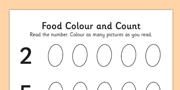 Jack and the Beanstalk Bean Count and Colour Sheet - colour