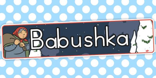 Babushka Display Banner - australia, babushka, display, banner