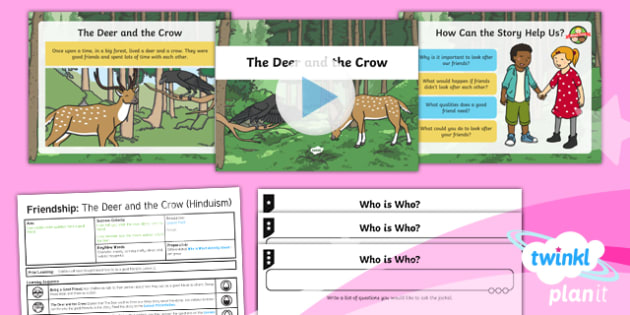 RE: Friendship: The Deer and the Crow Year 1 Lesson Pack 4
