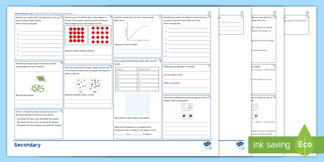 Edexcel gcse chemistry topic 6 groups in the periodic table edexcel chemistry gcse topic 7 rates of reaction and energy change foundation revision activity mat urtaz Images