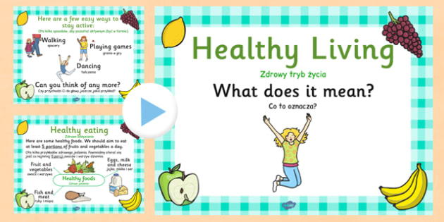 EYFS Healthy Eating and Living PowerPoint Polish Translation - polish, eyfs, healthy eating, healthy living, healthy, powerpoint