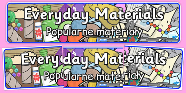 Everyday Materials Display Banner Polish Translation - polish, everyday materials, display banner