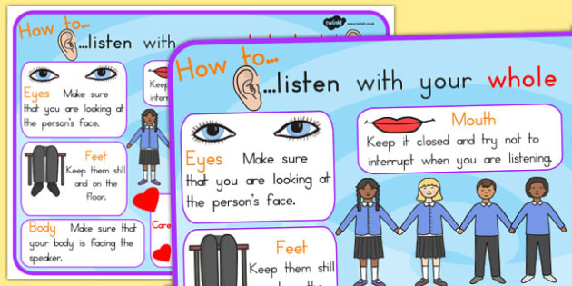Listen With Your Whole Body Display Poster - listen, hearing