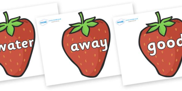 Next 200 Common Words on Strawberries - Next 200 Common Words on  - DfES Letters and Sounds, Letters and Sounds, Letters and sounds words, Common words, 200 common words