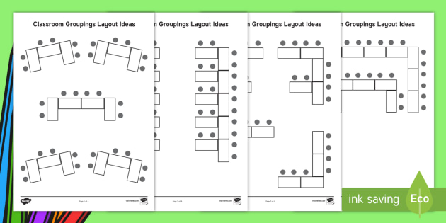School Classroom Design Guide ~ Classroom groupings layout ideas back to school