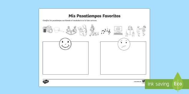 hobbies i like and dislike worksheet worksheet spanish spanish. Black Bedroom Furniture Sets. Home Design Ideas