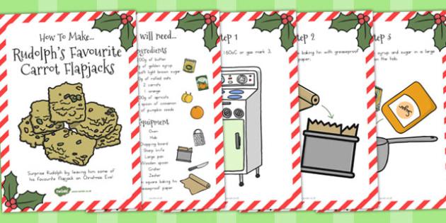 Rudolphs Favourite Carrot Flapjacks Recipe Cards - australia