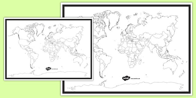 Blank World Map - blank world map, world map, activity, world