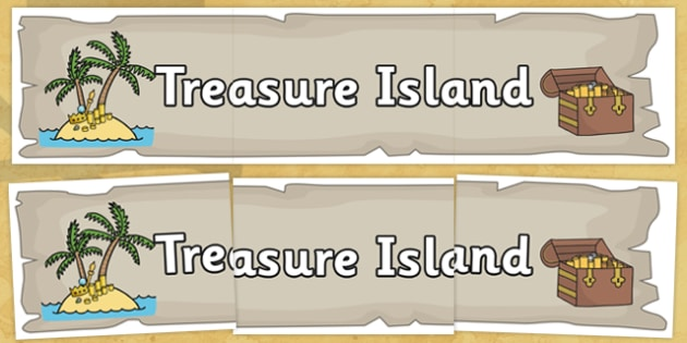 Treasure Island Display Banner - Pirate, Pirates, Topic, Display, Posters, Freize,  pirate, pirates, treasure, ship, jolly roger, ship, island, ocean