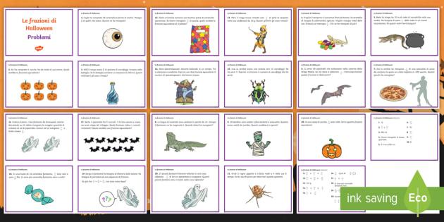 Problemi con frazioni di Halloween Attività (teacher made)