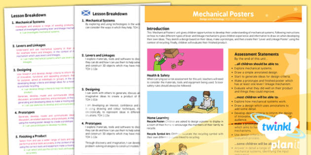 D&T: Mechanical Posters LKS2 Planning Overview CfE