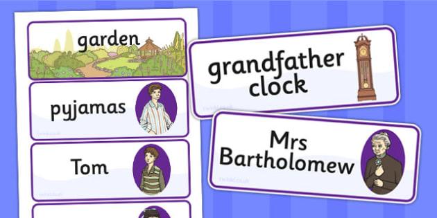 Tom's Midnight Garden Word Cards - word cards, garden, midnight