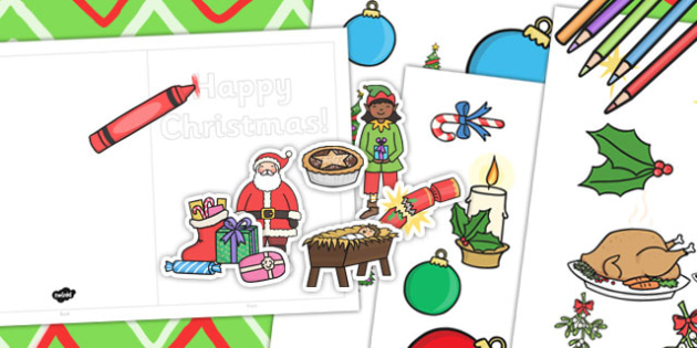 How To Make Your Own Cut Out Christmas Cards - christmas, cut out, cards